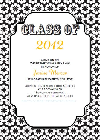 free printable college graduation announcements | download our, Party invitations