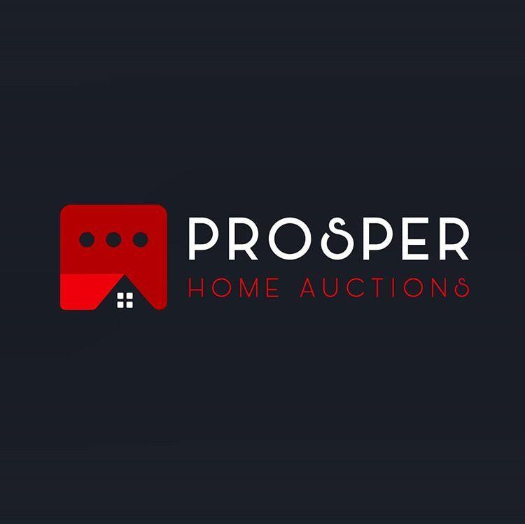 Logosholic On Instagram Logo Design For Prosper Home Auctions Logo Vector Vintage Artoflogo Artw In 2020 Roofing Company Logos Roofing Logo House Logo Design