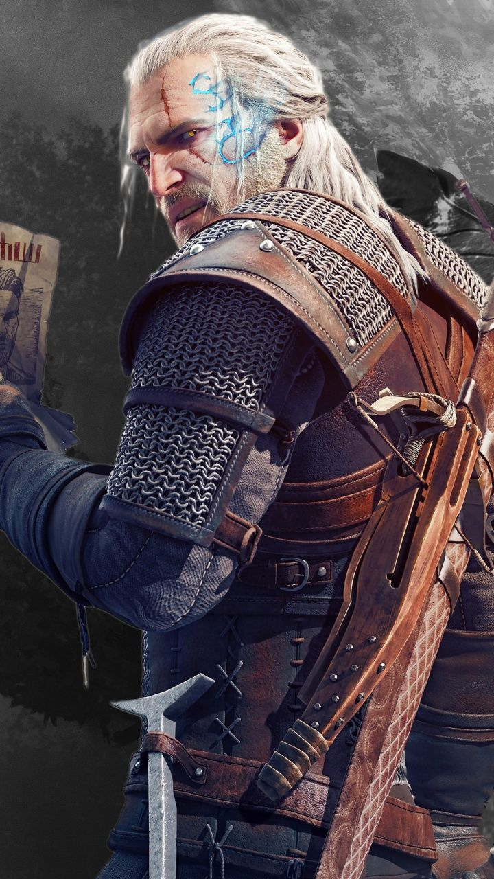 Geralt Of Rivia The Witcher 3 Wild Hunt Video Game Warrior 720x1280 Wallpaper The Witcher The Witcher Game The Witcher 3