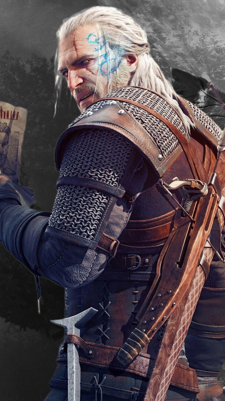 Geralt Of Rivia The Witcher 3 Wild Hunt Video Game Warrior 720x1280 Wallpaper The Witcher The Witcher Wild Hunt The Witcher Game
