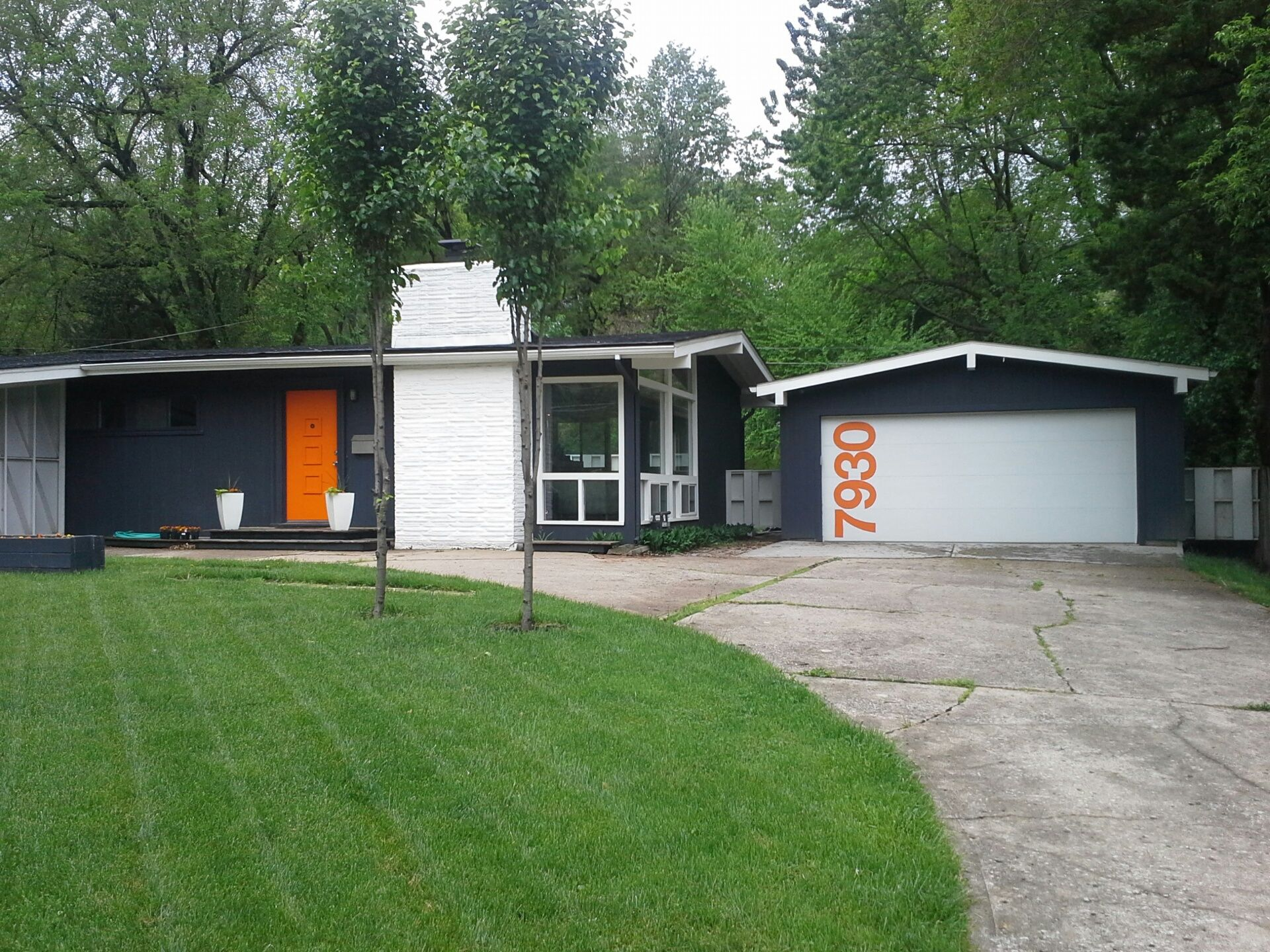 A colorful mid century modern ranch home with a customized for Make my house
