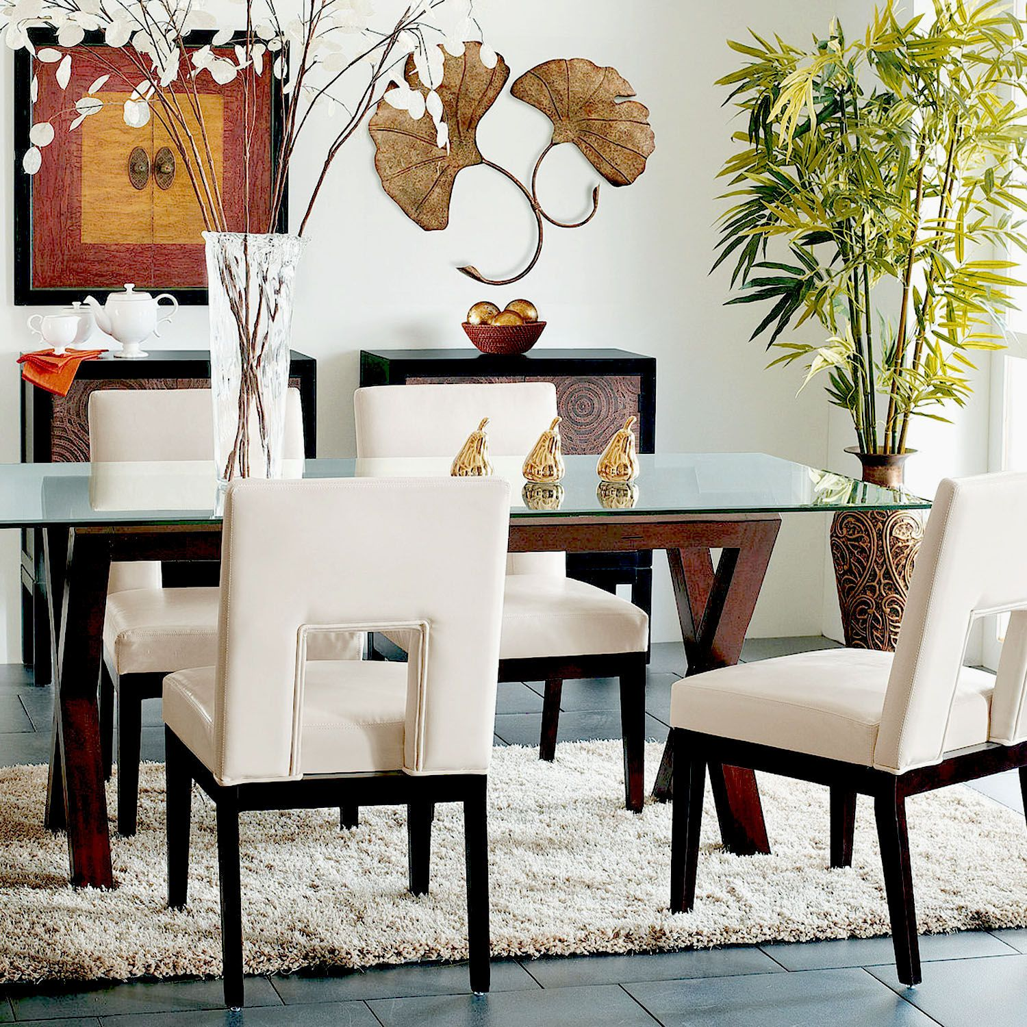 Bal Harbor Ivory Dining Chair With Espresso Wood  Ivory Foam Amusing Ivory Leather Dining Room Chairs Design Ideas