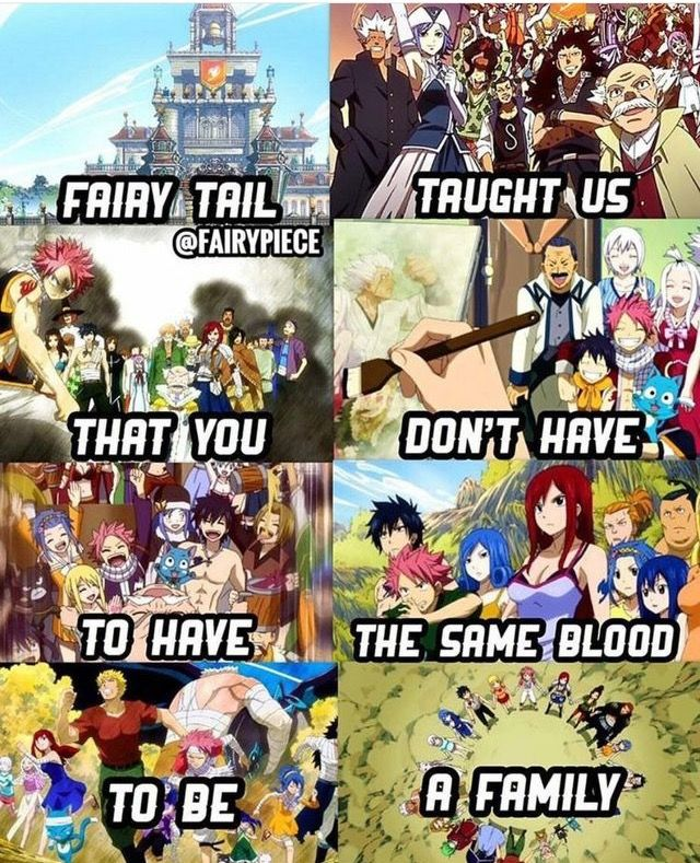 I literally feel like I am part of the Fairytail family. Couldn't say it any better myself.