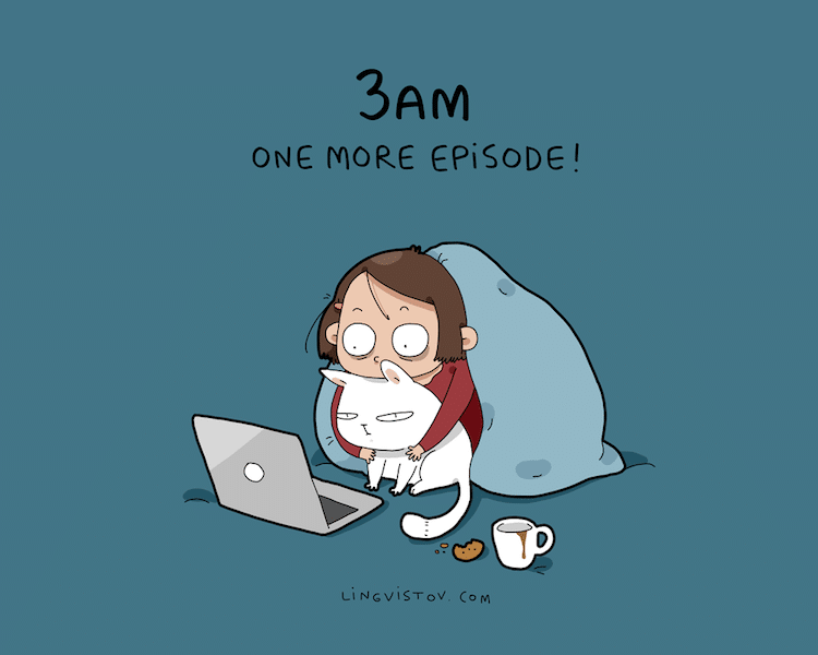 Best Funny Illustration Illustrator Perfectly Captures How an Introvert Likes to Spend the Weekend 4