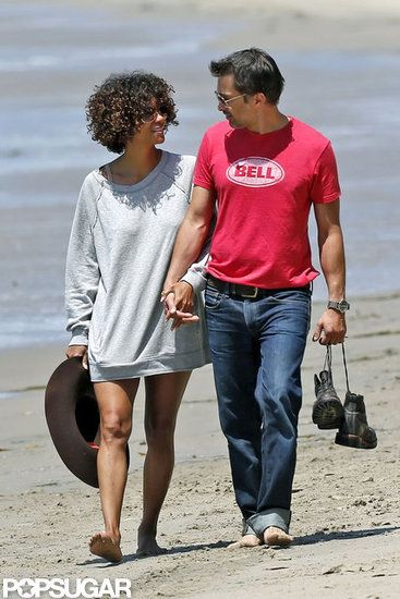 See Sparks Fly With 50 Hot PDA Pictures: : Halle Berry and Olivier Martinez held hands during a romantic stroll along the Malibu, CA, shore in May 2012.