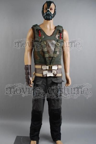 bane tactical vest mask glove pants set costume for batman the dark knight rises - Halloween Costumes Bane