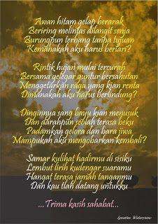 Puisi Terima Kasih Sahabat Kalimat Dan Puisi Ungkapan Jiwa