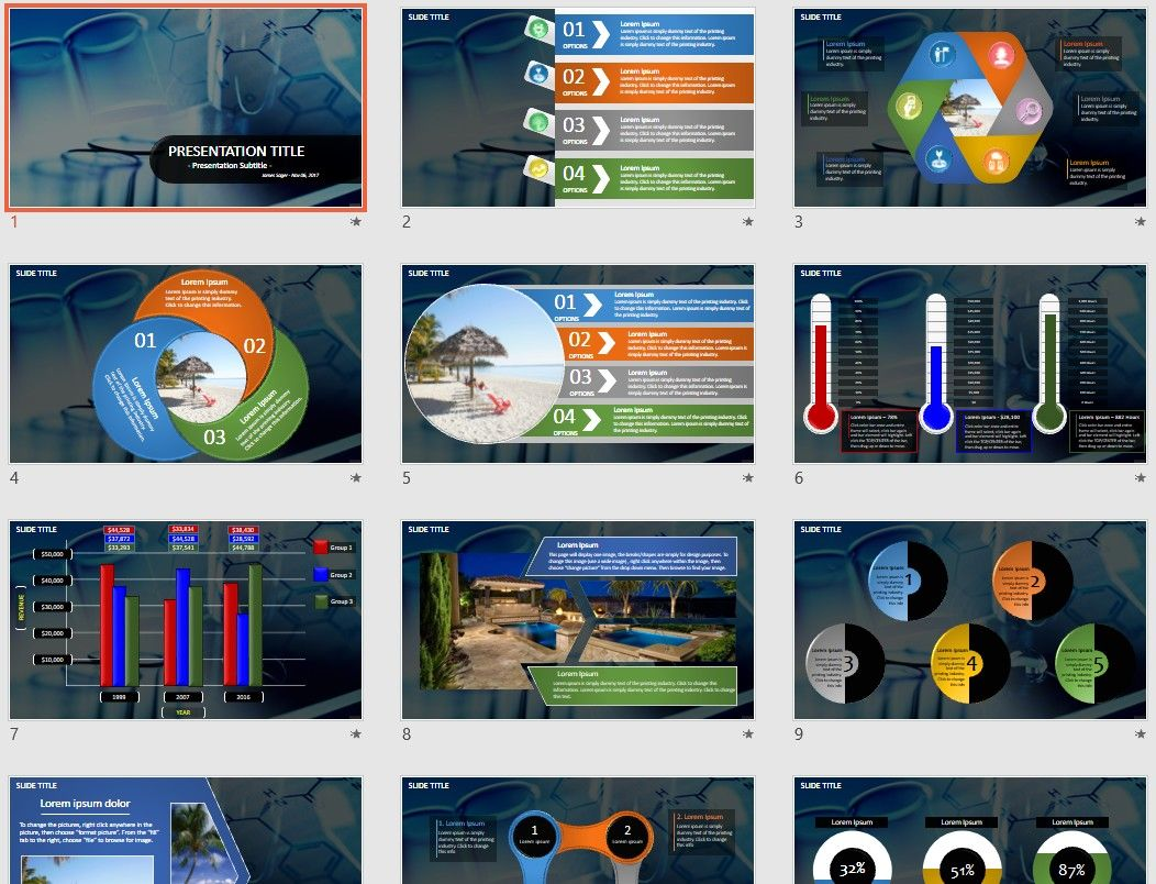 Science Powerpoint By Sagefox Free Powerpoint Templates By Sagefox