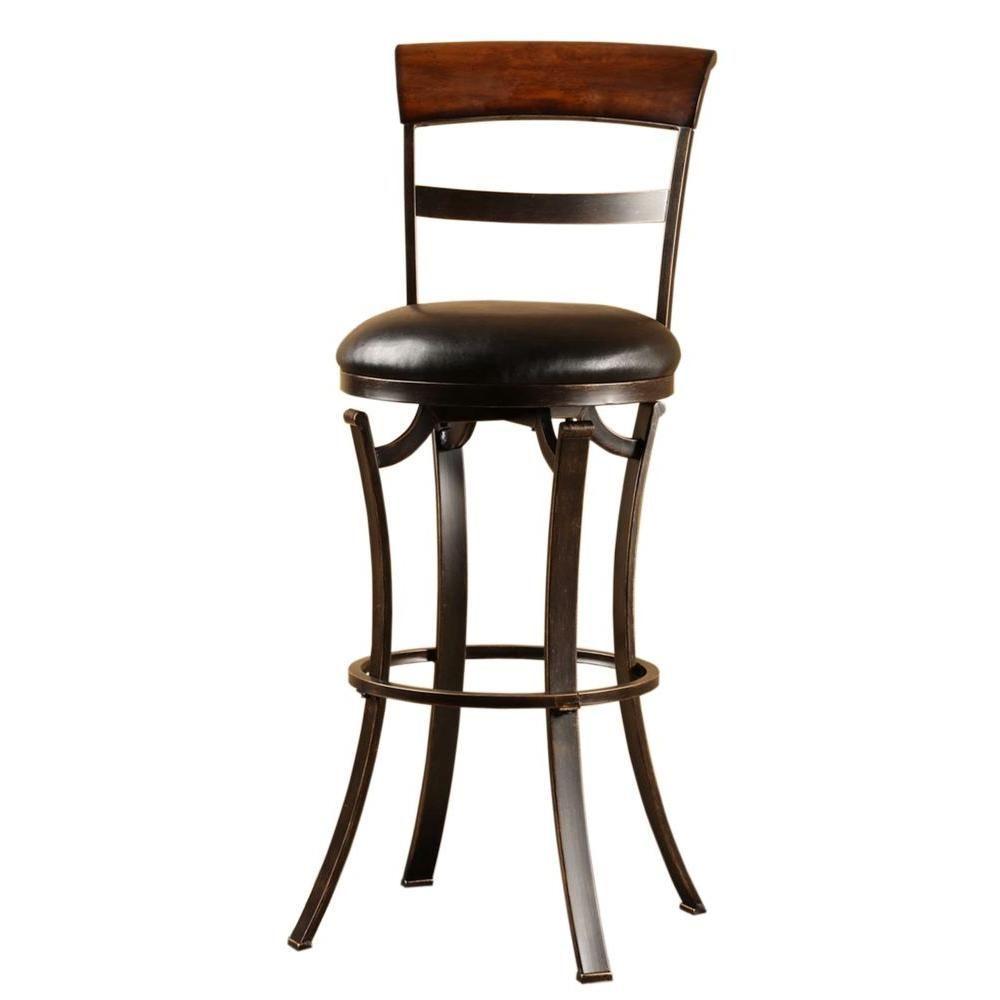 Hillsdale Furniture Kennedy 30 In. Black Gold Swivel