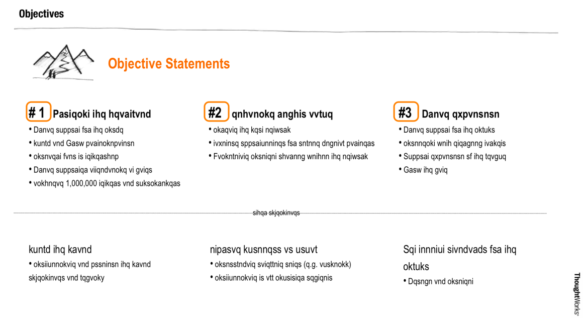 objectives statements Business model canvas, Customer