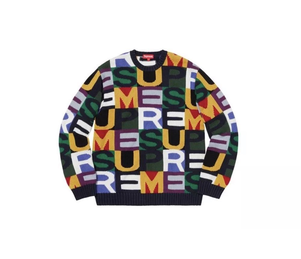 f2b188dc9196 SUPREME Big Letters Sweater (Large Multicolor)  fashion  clothing  shoes   accessories  mensclothing  activewear (ebay link)