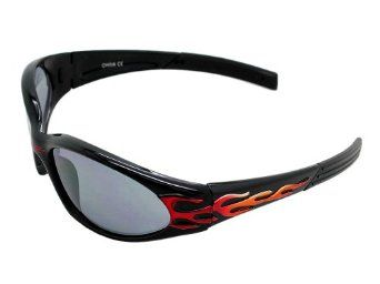 698aebce7d4d62 X LOOP Eyewear Kids BLACK RED FLAME BIKER SPORT Style Frame Lens Sunglasses  Shades Fashion  WCAA719  X-Loop.  4.99