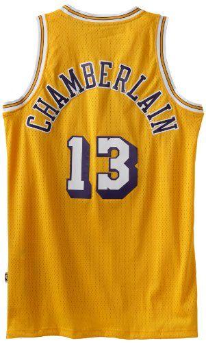 de583ddd NBA Los Angeles Lakers Gold Swingman Jersey Wilt Chamberlain #13, Medium