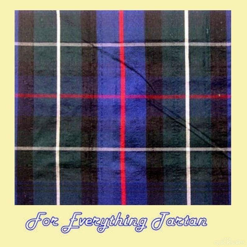 MacKenzie Modern Tartan Dupion Silk Plaid Fabric Swatch  by JMB7339 - $40.00