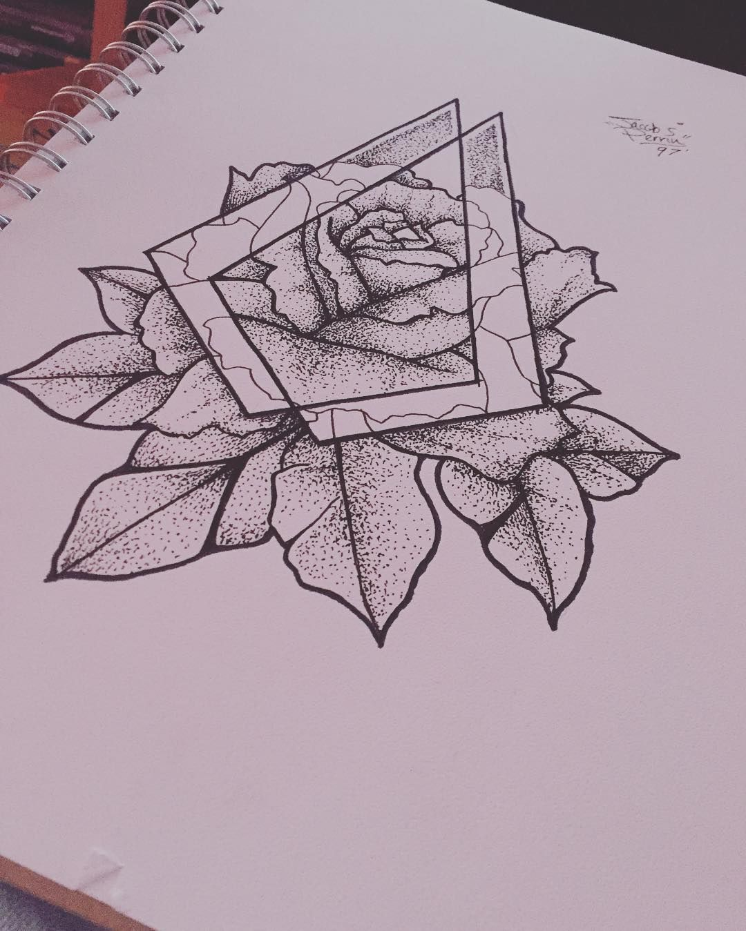 Fresh WTFDotworkTattoo Find Fresh from the Web 7:55PM// Next Tattoo Drawn. #Dotwork #Drawing #Tattoo #Geometric #Floral #Art perrinmate WTFDotWorkTattoo