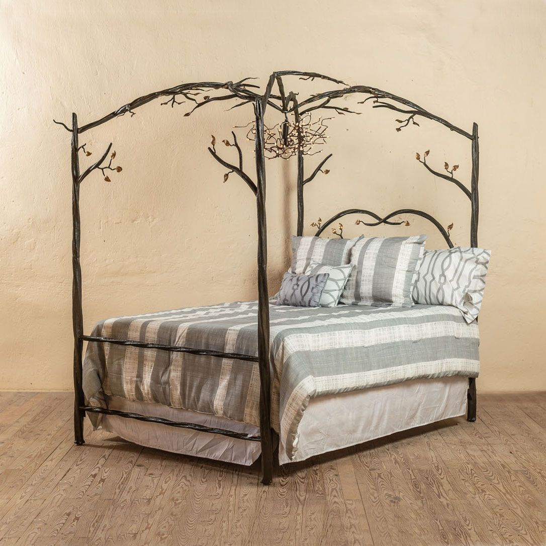 Elm Springs Wrought Iron Canopy Bed