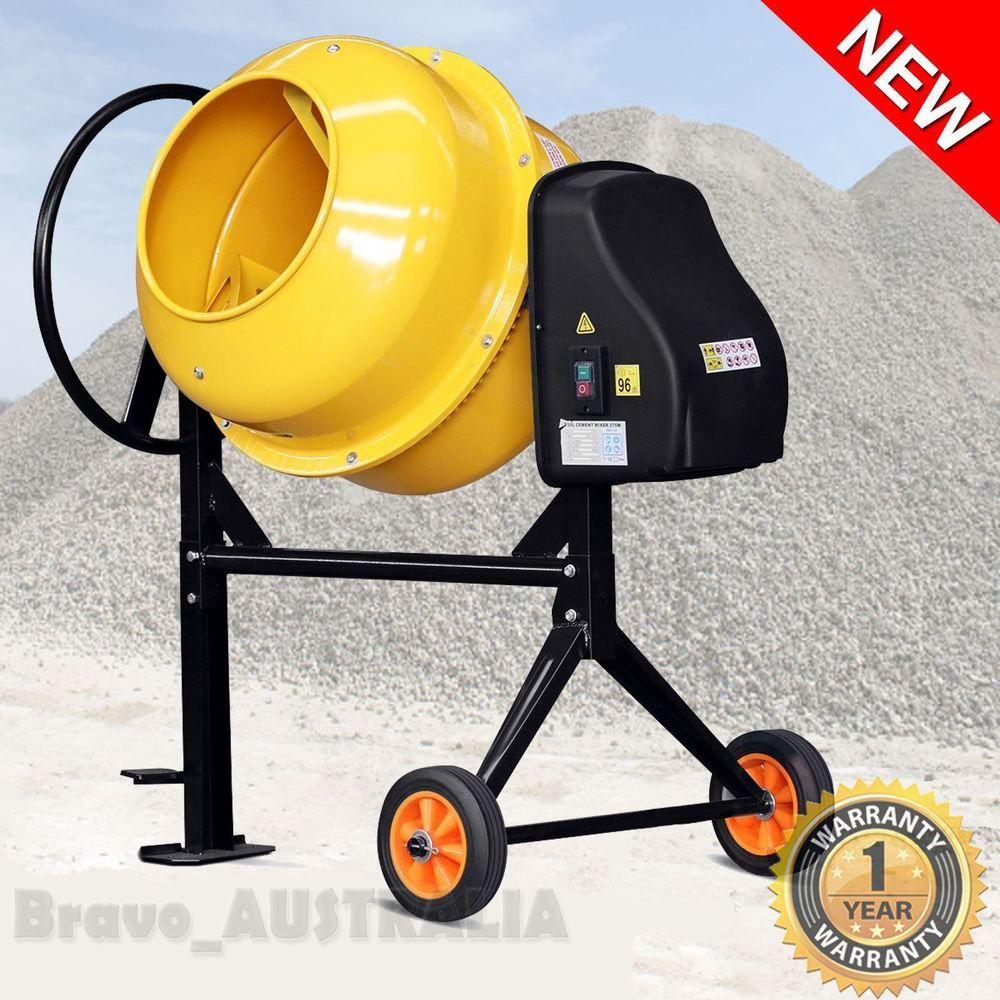 Portable Cement Concrete Mixer 200L Electric Construction