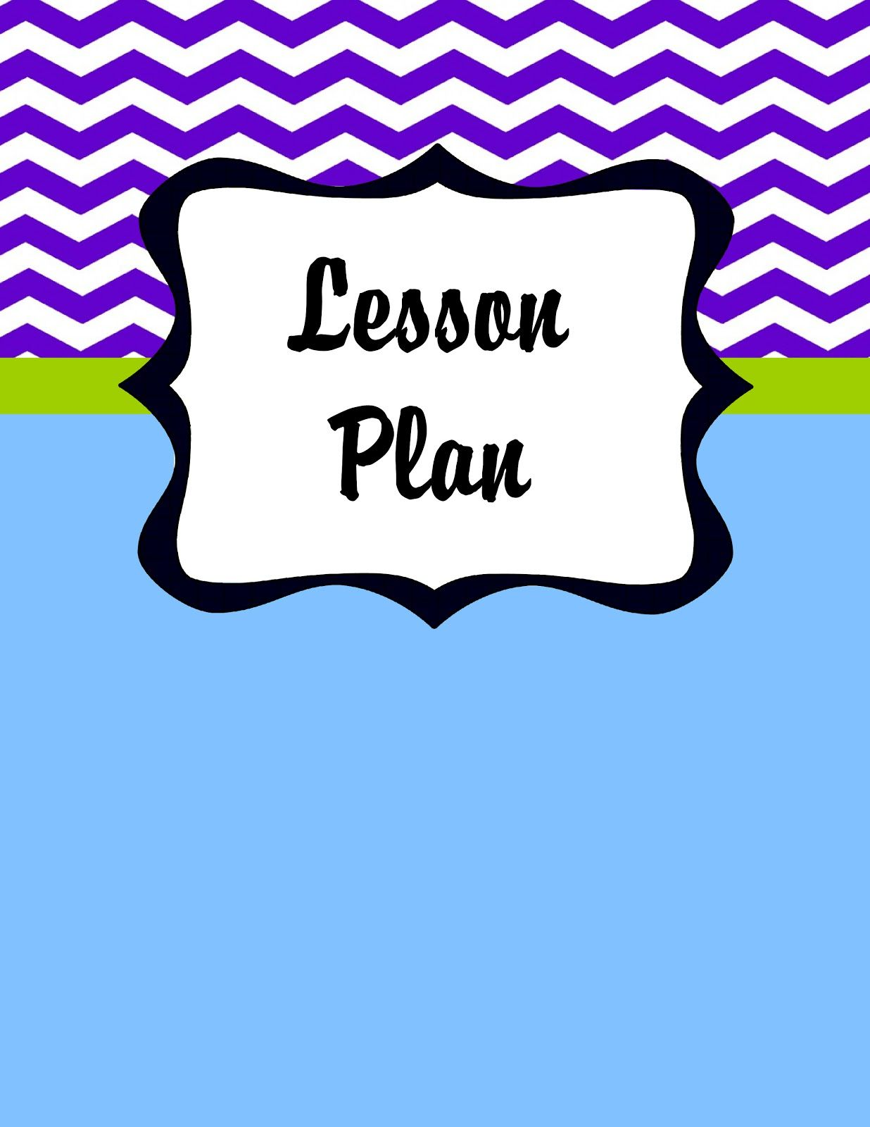 Free Printable Teacher Planner Cover Page Dividers