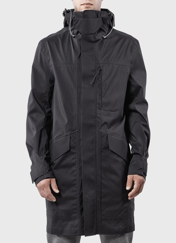 ISAORA | 3L Tech UX Parka Shell (Black): | My Style