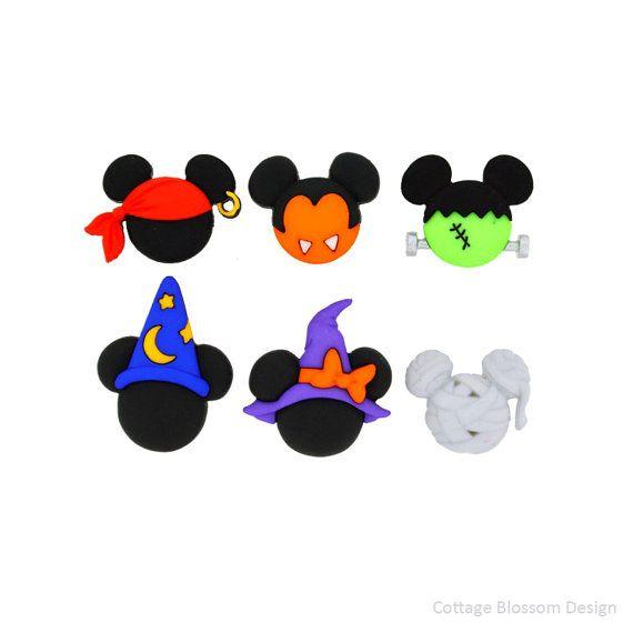 Disney Mickey & Minnie Halloween Hats Jesse James Button Black Mouse ...