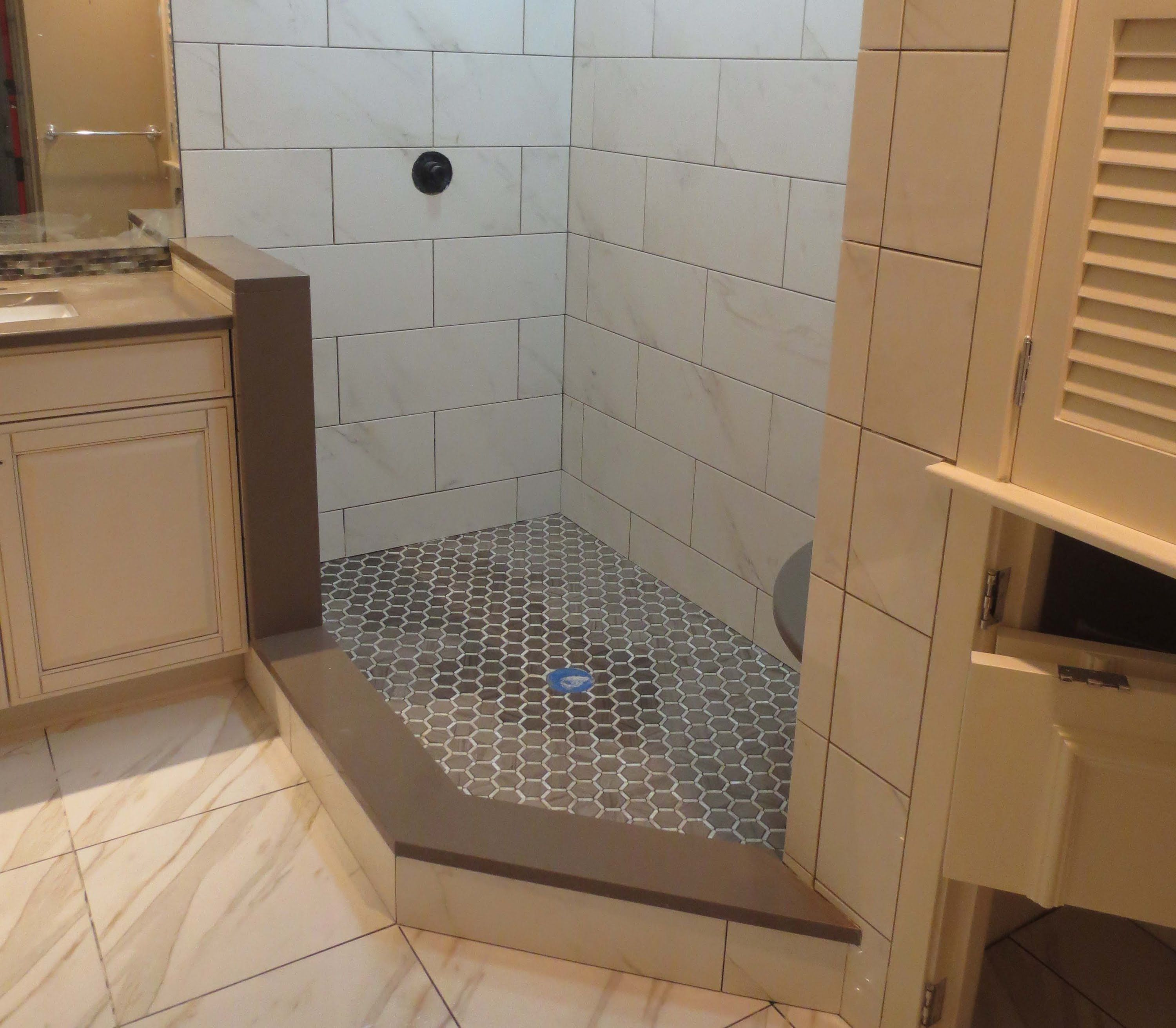 Large Format Tile Bathroom  Google Search