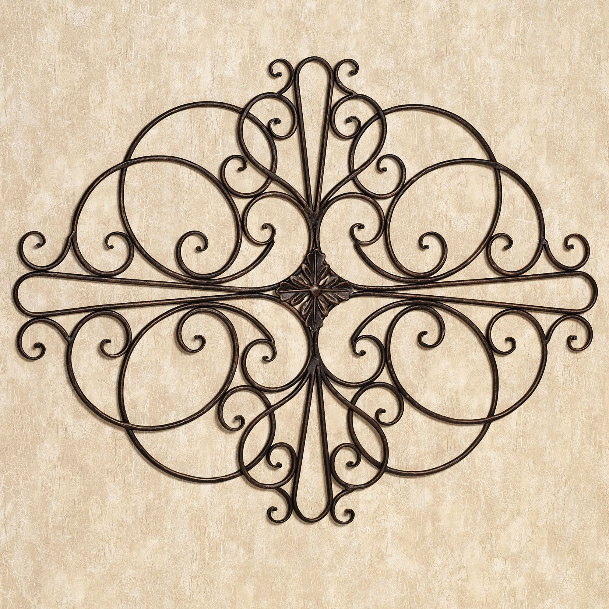 Large Wrought Iron Outdoor Wall Decor Savino Indoor Outdoor Wrought Iron Wall Grille  Iron Wall