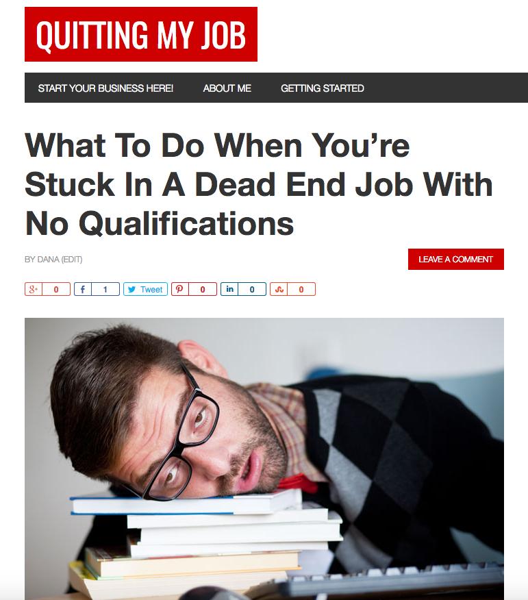quitting a dead end job