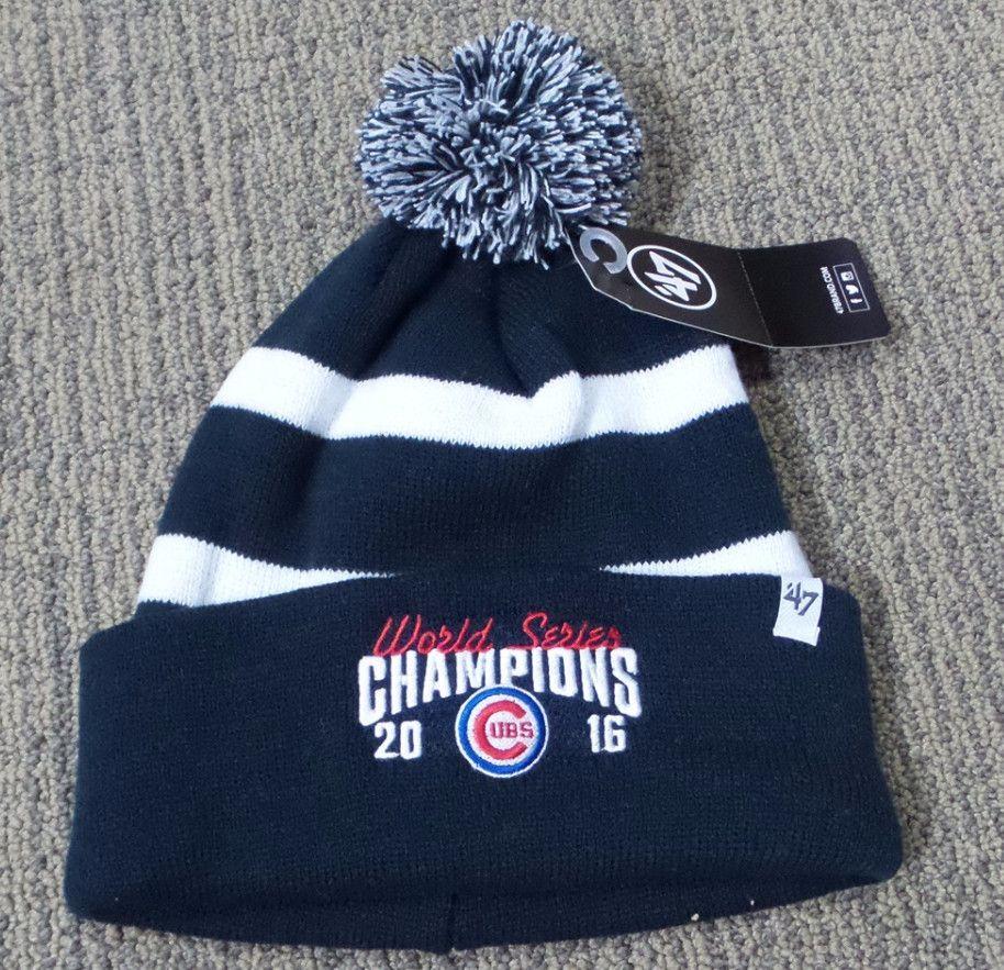 Chicago Cubs 2016 World Series Champion Breakaway Cuff Knit Beanie - Navy 41bae8cd4dfc
