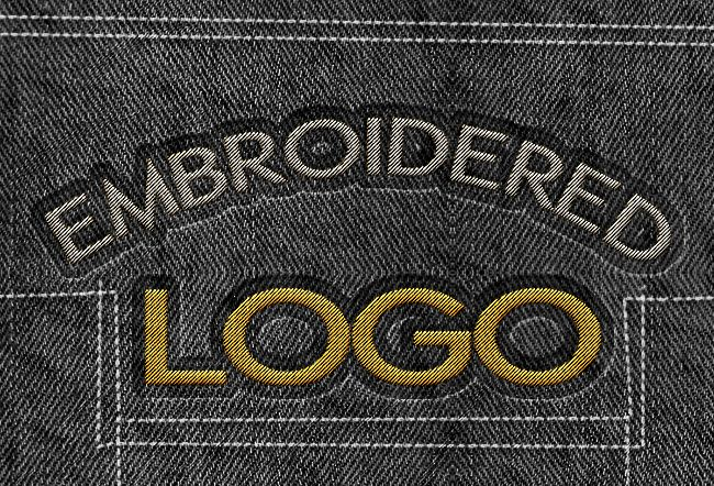 Sewing embroidery effect in photoshop tutorial