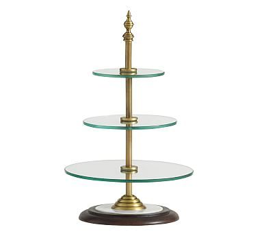 Plaza Tiered Entertaining Stand Entertainment Table