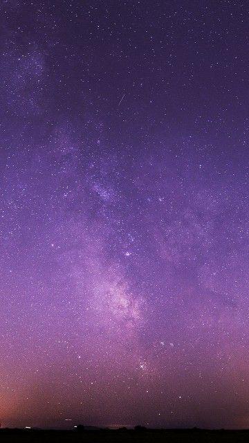 Purple Night Sky Stars Milky Way Android Wallpaper