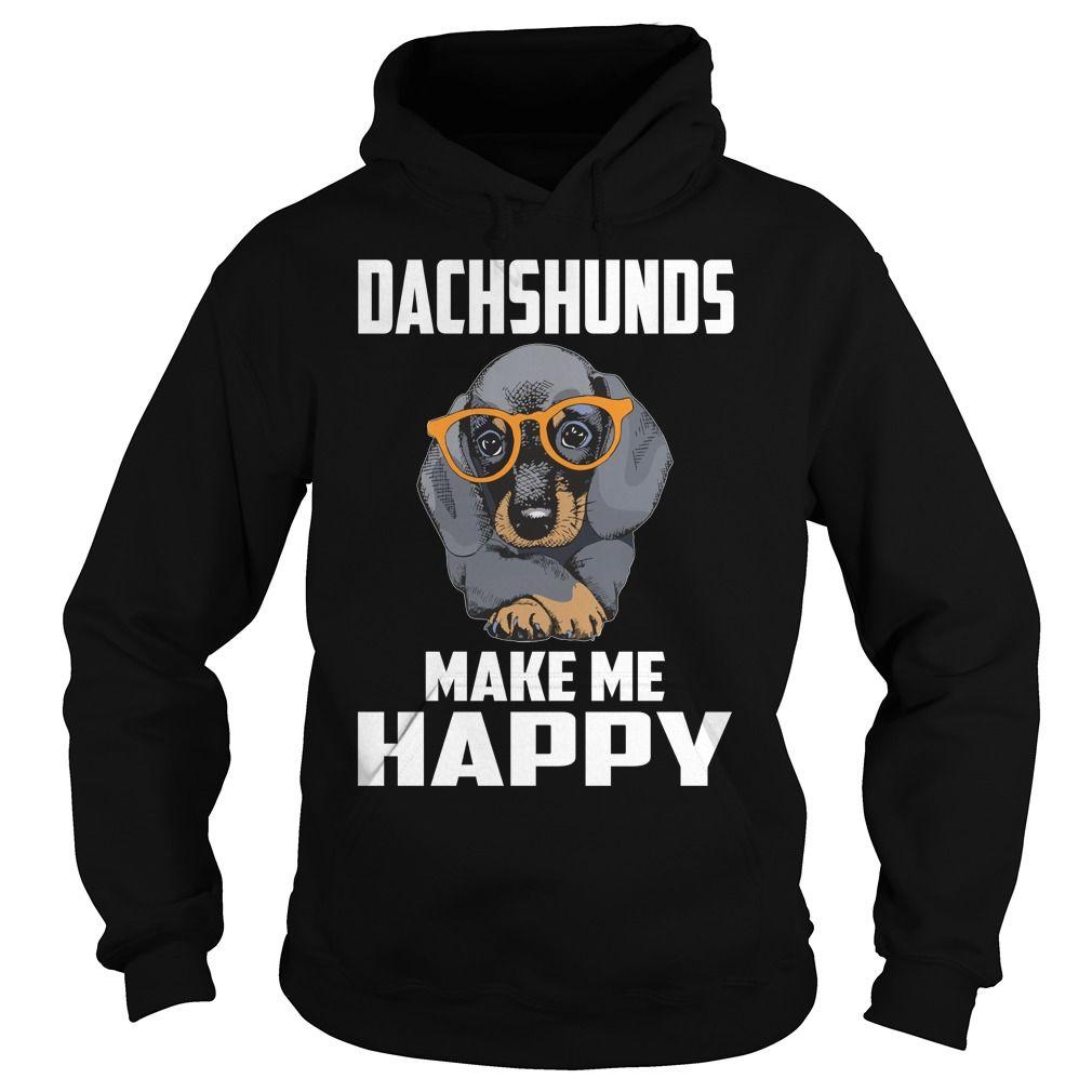 Dachshunds Make Me Happy Dachshunds Tshirts I LOVE