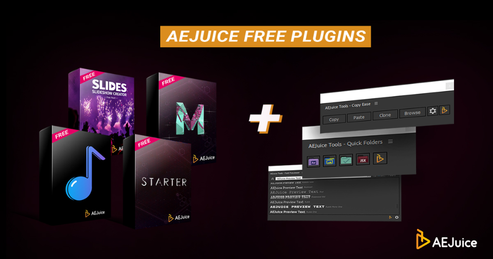 Free After Effects Plugins Aejuice Free Plugins Plugins Web Design Tutorials