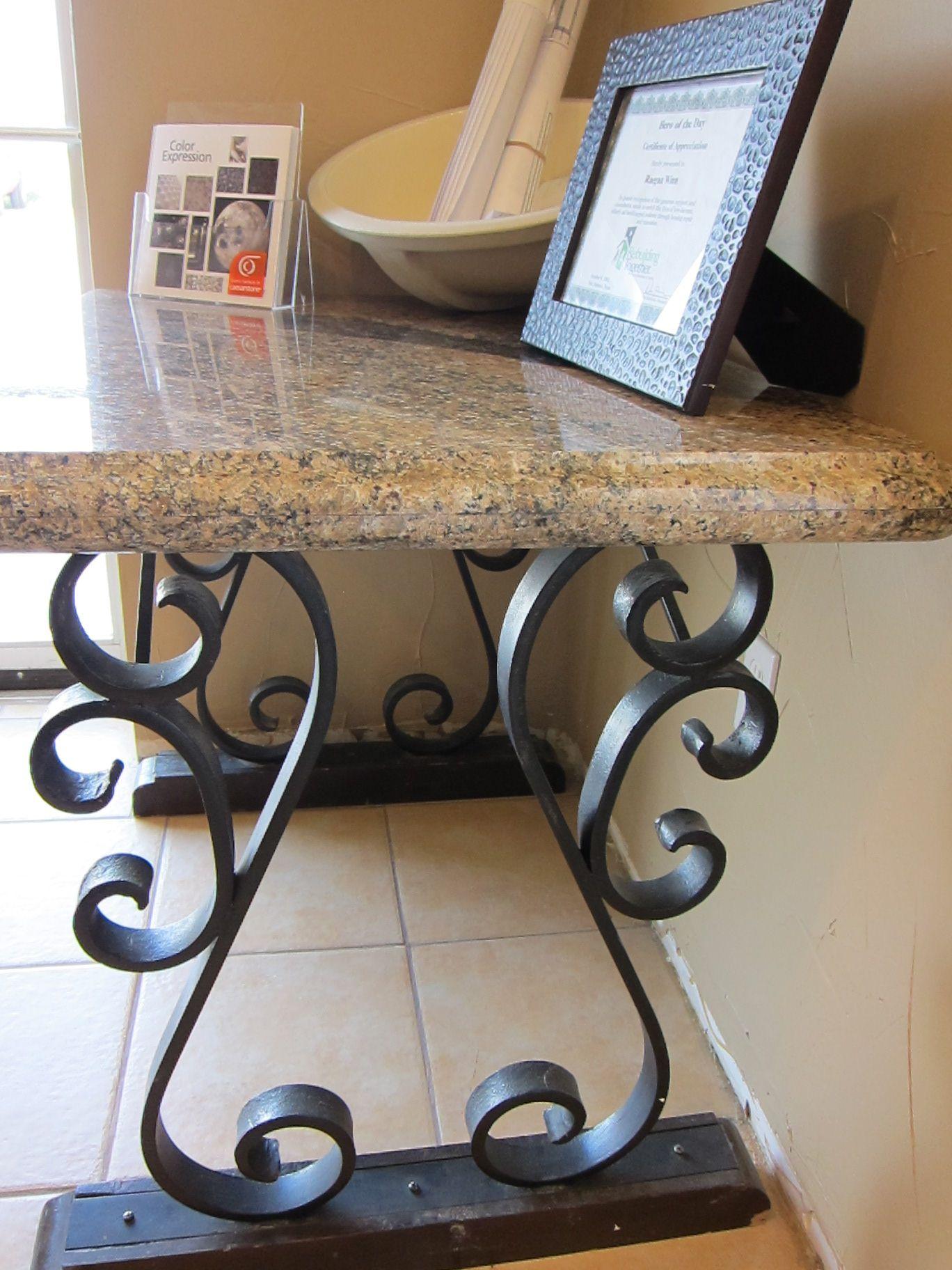 Granite Table Iron Decor Wrought Iron Decor Granite Ideas