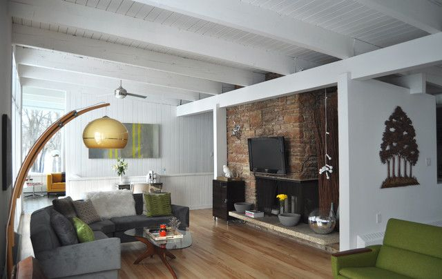 mid century modern piece in each room - Google Търсене Living Room