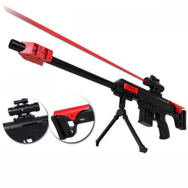 Water Bullet Gun Barrett NERF Sniper Strike CS Dart Blaster Elite Infrared  Light | eBay