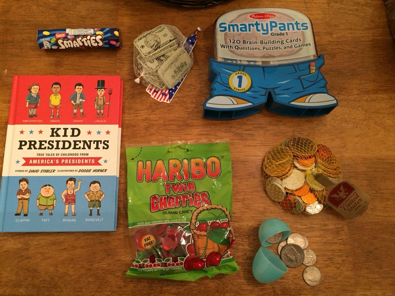 Easter basket ideas!Presidential themed Easter basket