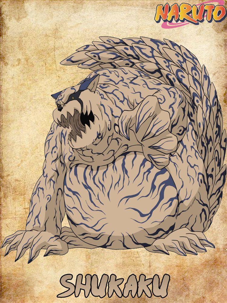 Shukaku the sand spirit (one tail) Tanki   Bijus naruto, Kakashi desenho, Desenhos de anime
