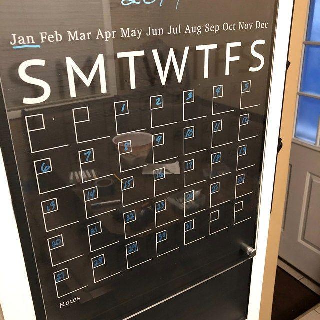 Acrylic Calendar For Wall, Dry Erase Calendar, Floating