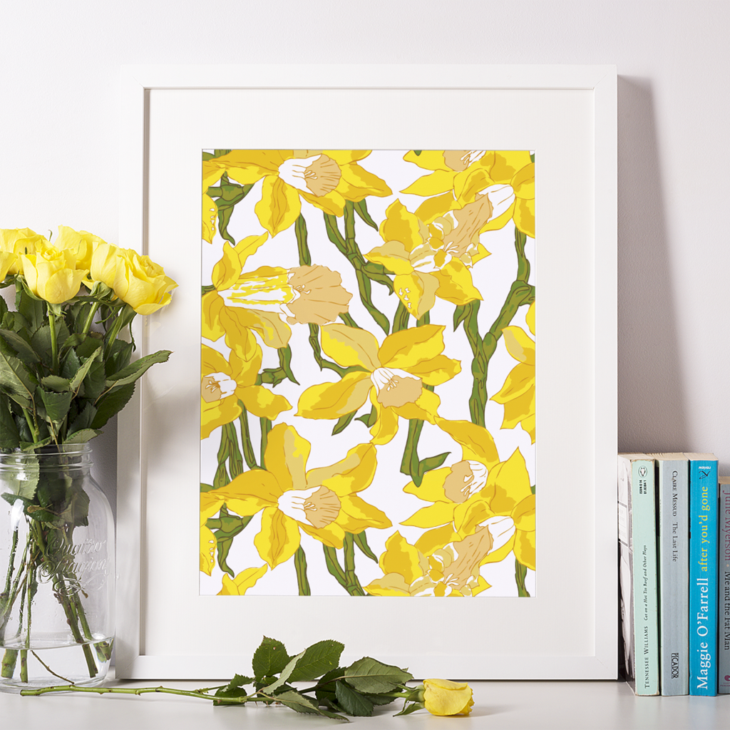 Yellow Daffodils Print | Daffodils, Gallery wall and Galleries