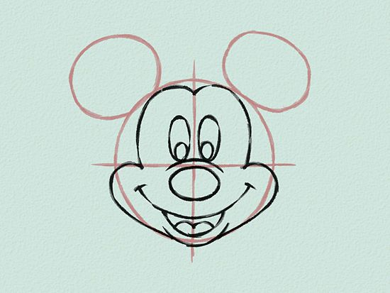 Line Drawing Mouse : Draw mickey mouse mice and drawing ideas