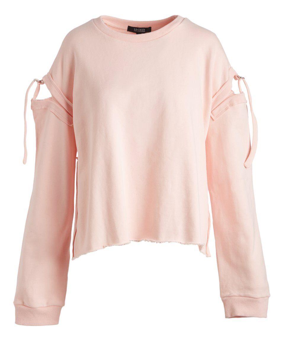 Take A Look At This Pink Cutout Sweatshirt