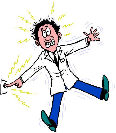 have you ever received an electrical shock  do you know electrical clip art symbols electric clipart