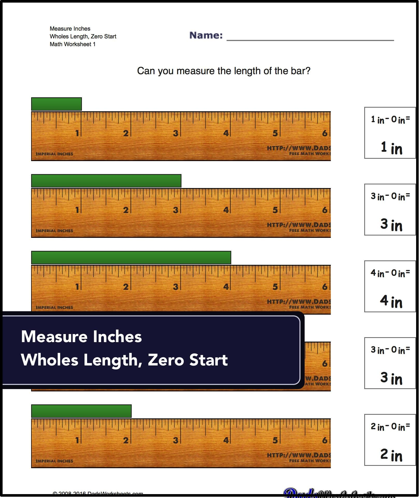 These are what you re working up to Worksheets for measuring length