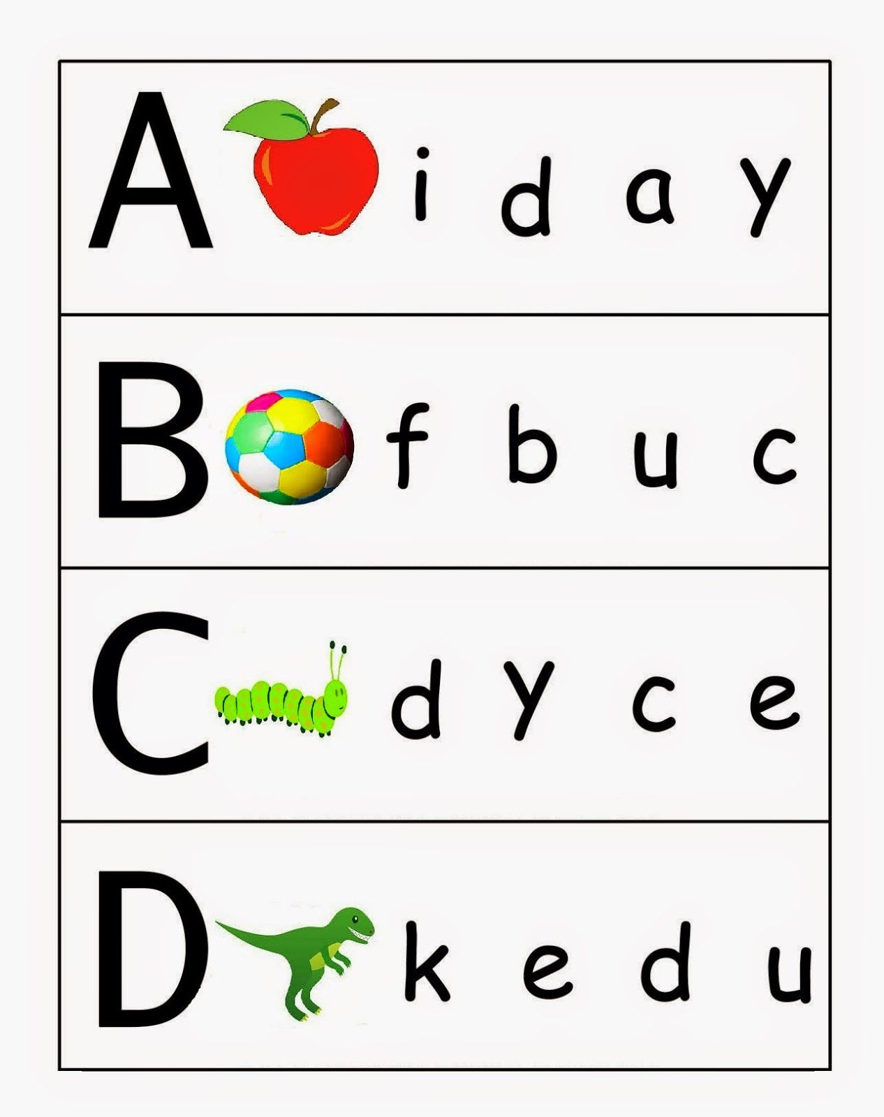 In the living room missing letters in words worksheet - Kindergarten Worksheets Match Upper Case And Lower Case Letters 1