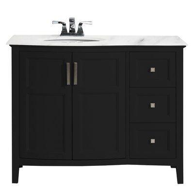 Wrought Studio Maryport Rounded Front 43 Single Bathroom Vanity