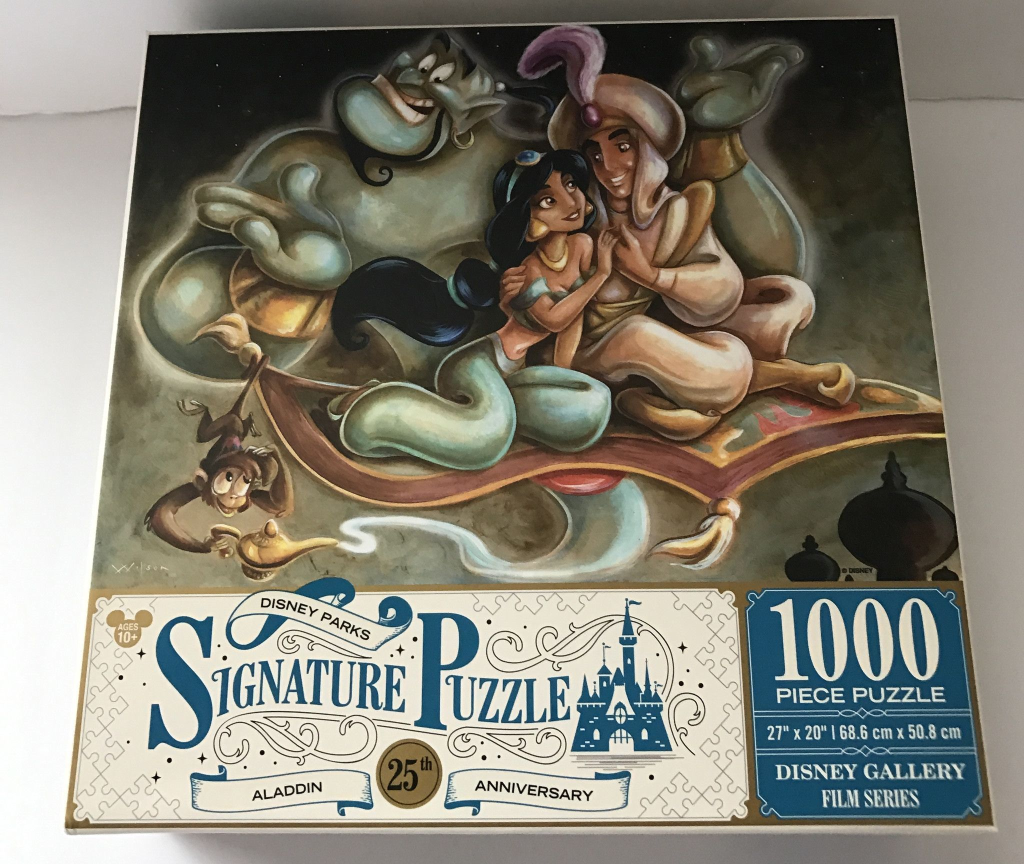 DISNEY PARKS SIGNATURE PUZZLE BEAUTY AND THE BEAST 25TH ANNIVERSARY 1000 PCS