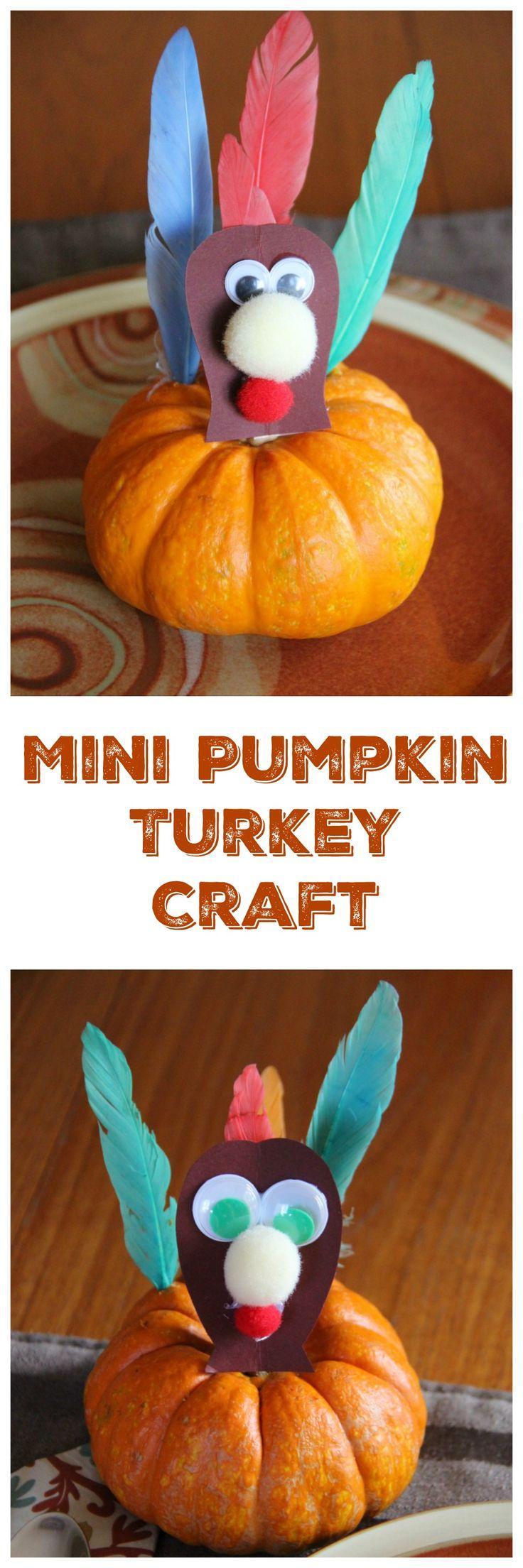 Mini Pumpkin Turkey Craft