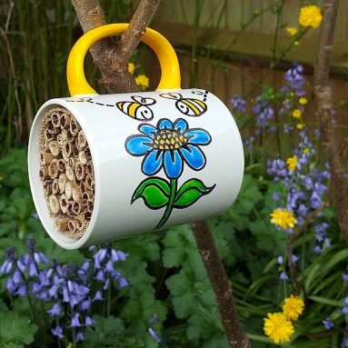 Solitary Bee Hotel M Insect Hotel Garden Crafts Easy