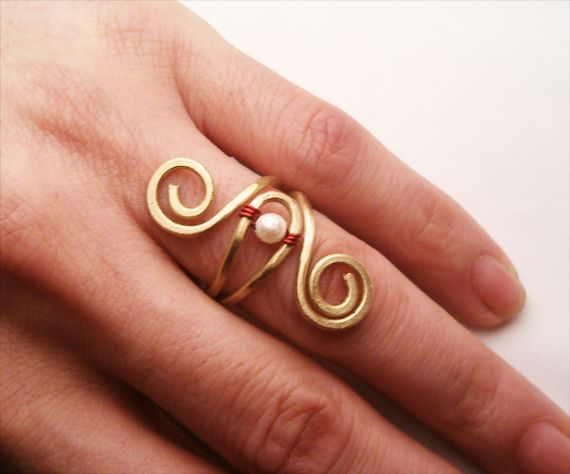 Victorian  Wire Wrapped Brass Ring by bleek70.deviantart.com on @deviantART